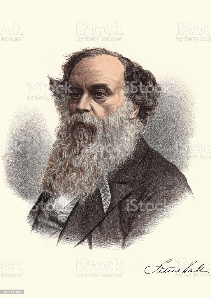 Eminent Victorians - Portrait of Titus Salt vector art illustration