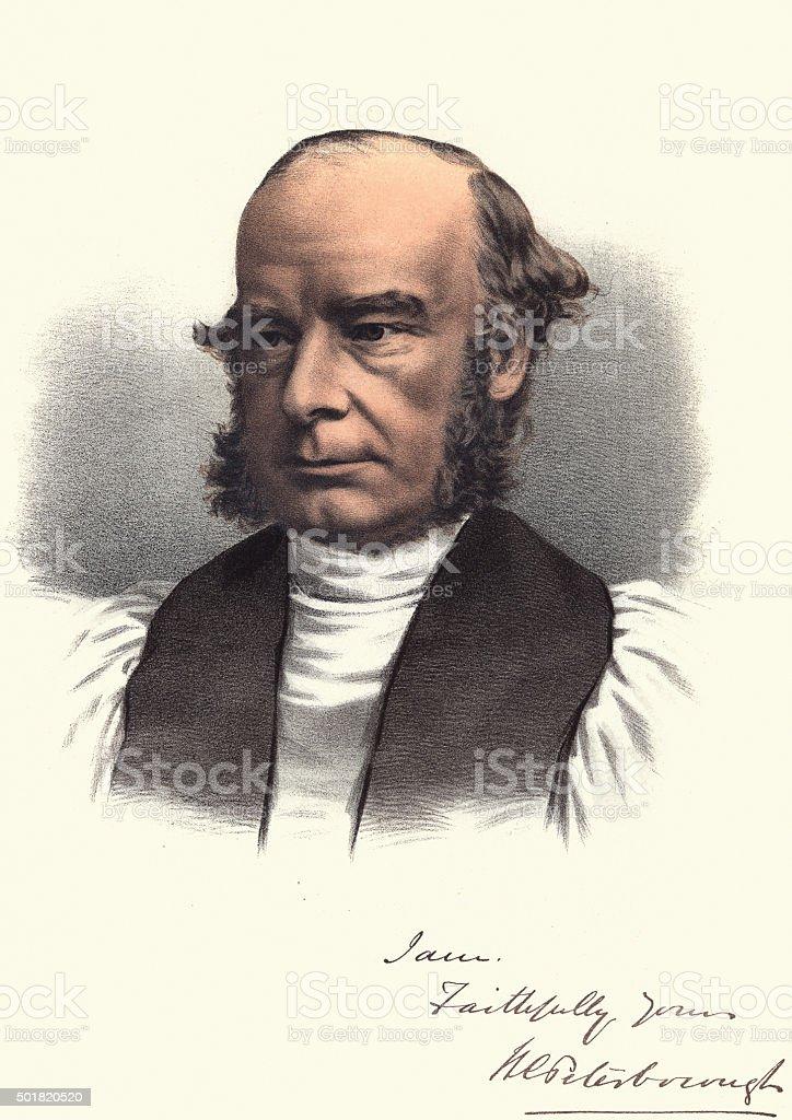 Eminent Victorians - Portrait of William Connor Magee vector art illustration