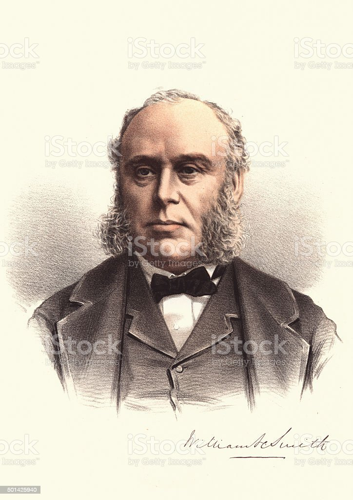 Eminent Victorians - Portrait of William Henry Smith vector art illustration