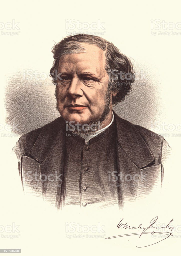 Eminent Victorians - Portrait of William Morley Punshon vector art illustration