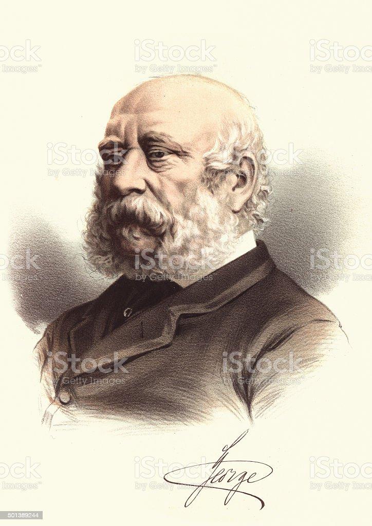 Eminent Victorians - Prince George, Duke of Cambridge vector art illustration