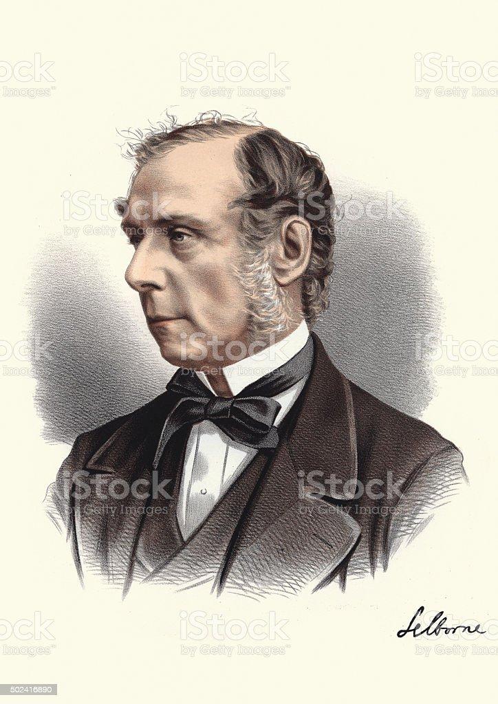 Eminent Victorians - Roundell Palmer, 1st Earl of Selborne vector art illustration