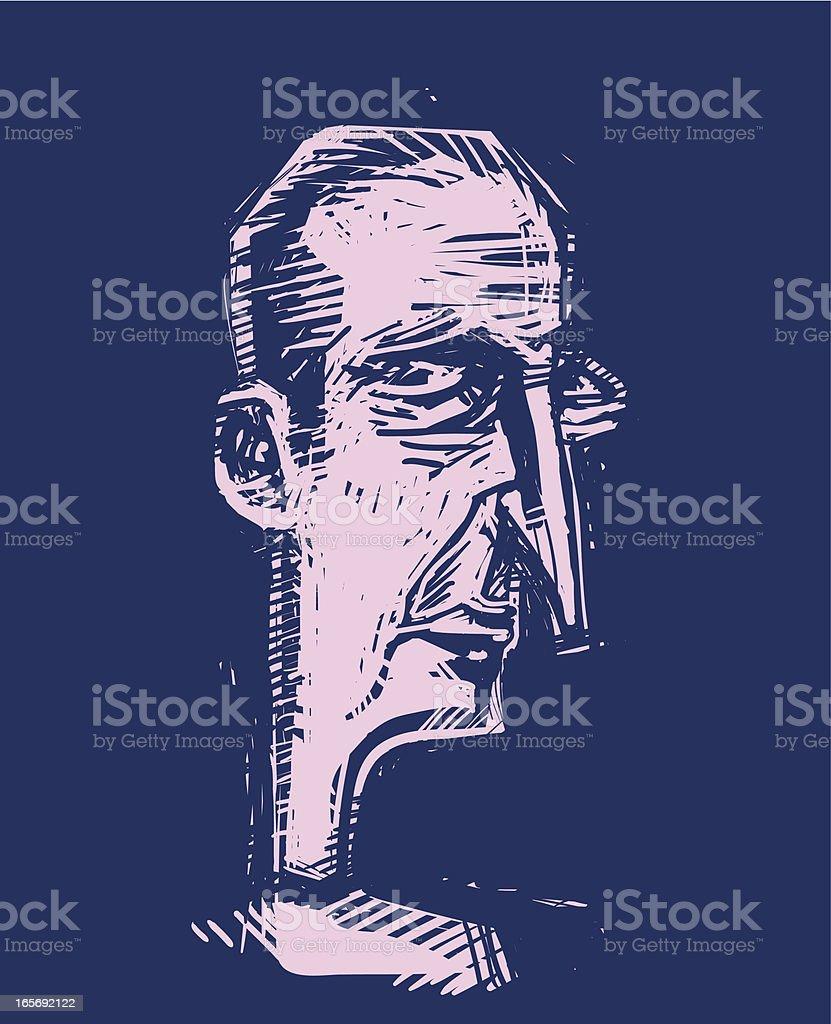 Emo guy vector art illustration
