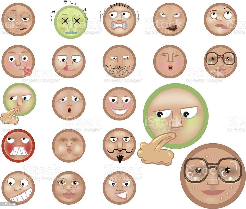 emoticons royalty-free stock vector art