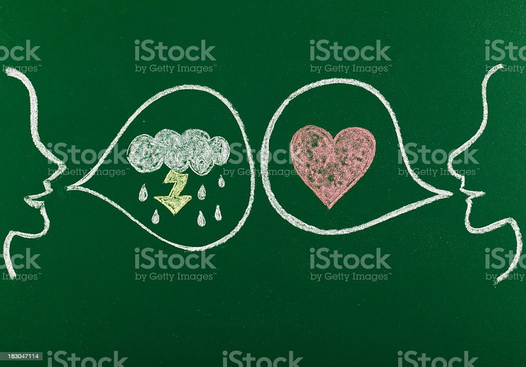 emotional conflict royalty-free stock vector art