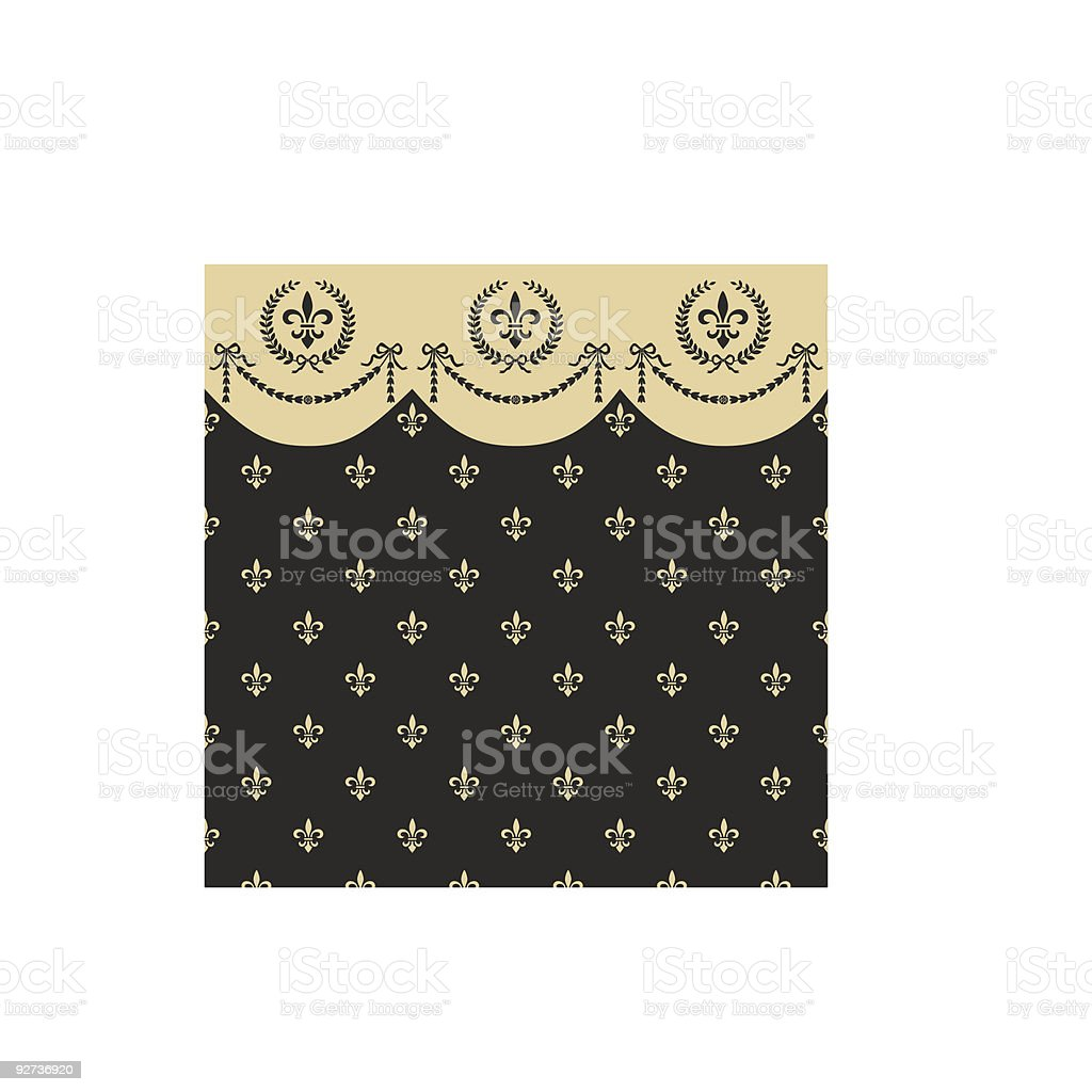 Empire seamless pattern royalty-free stock vector art