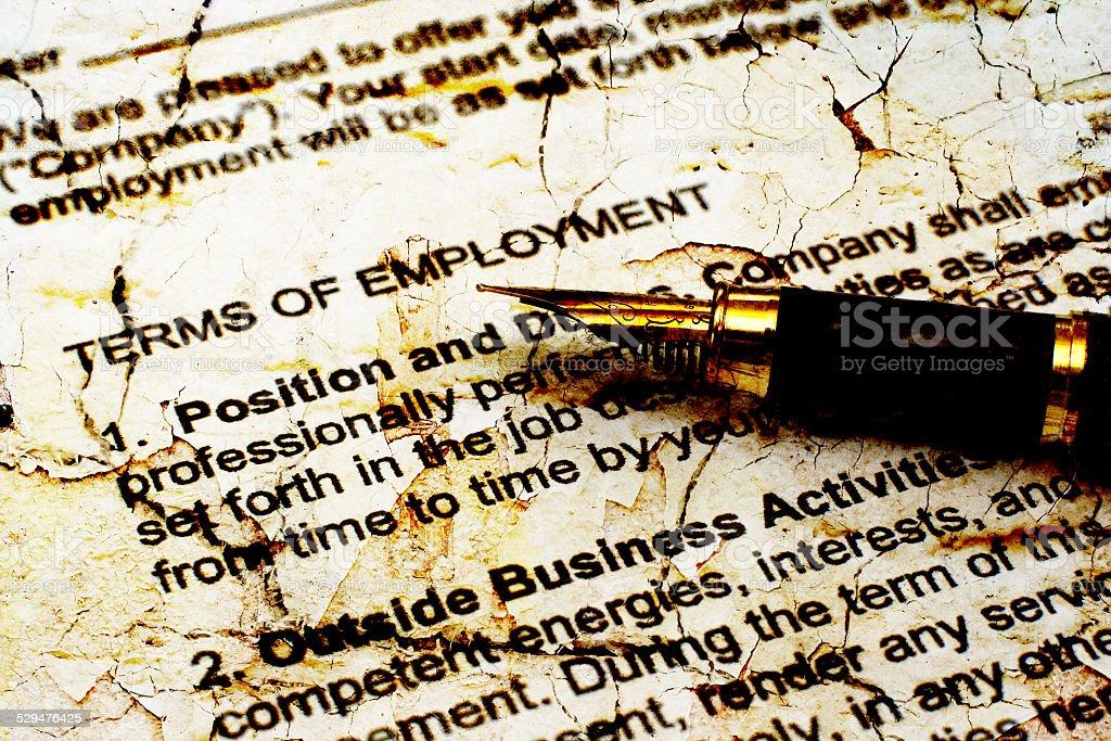 Employment contract vector art illustration