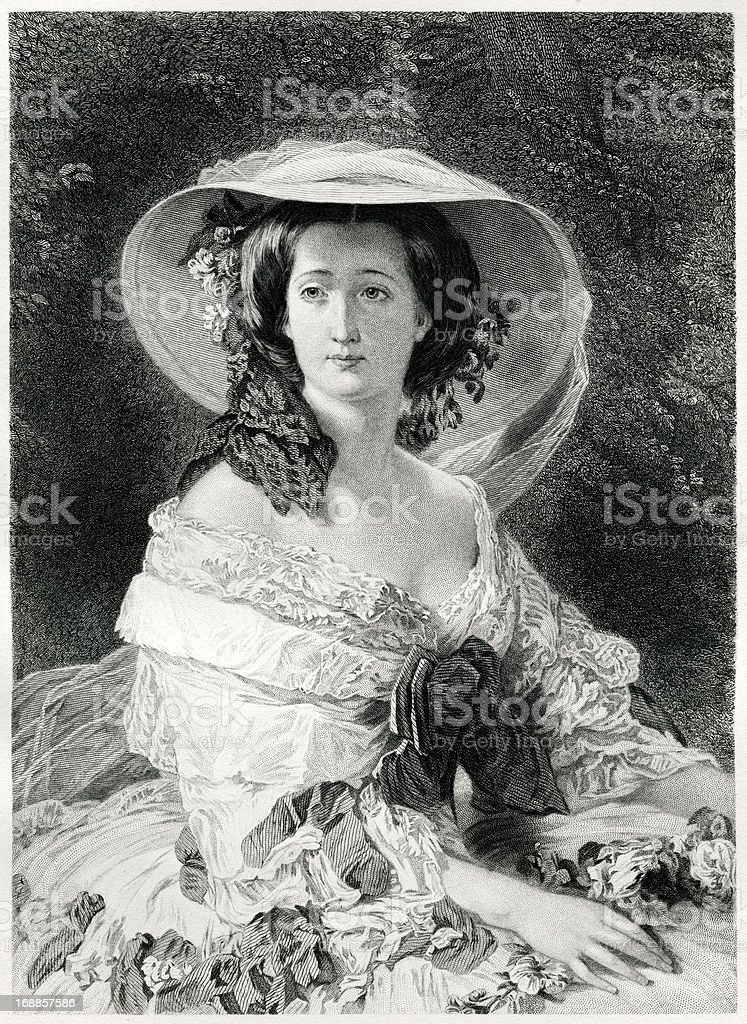 Empress Eugenie royalty-free stock vector art