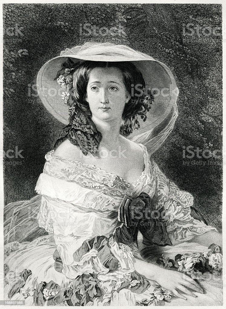 Empress Eugenie vector art illustration