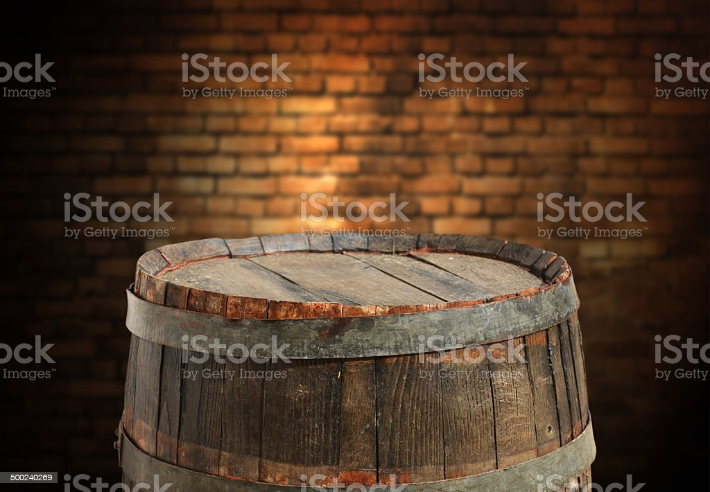 empty barrel vector art illustration