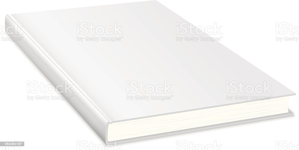 Empty book with white cover royalty-free stock vector art
