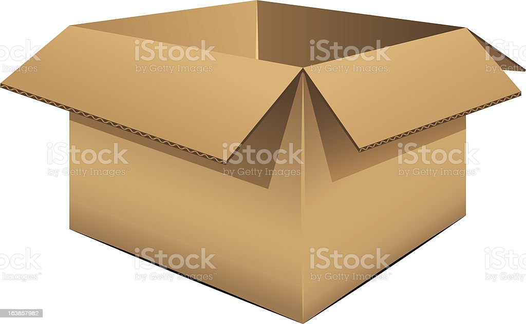Empty cardboard box royalty-free stock vector art