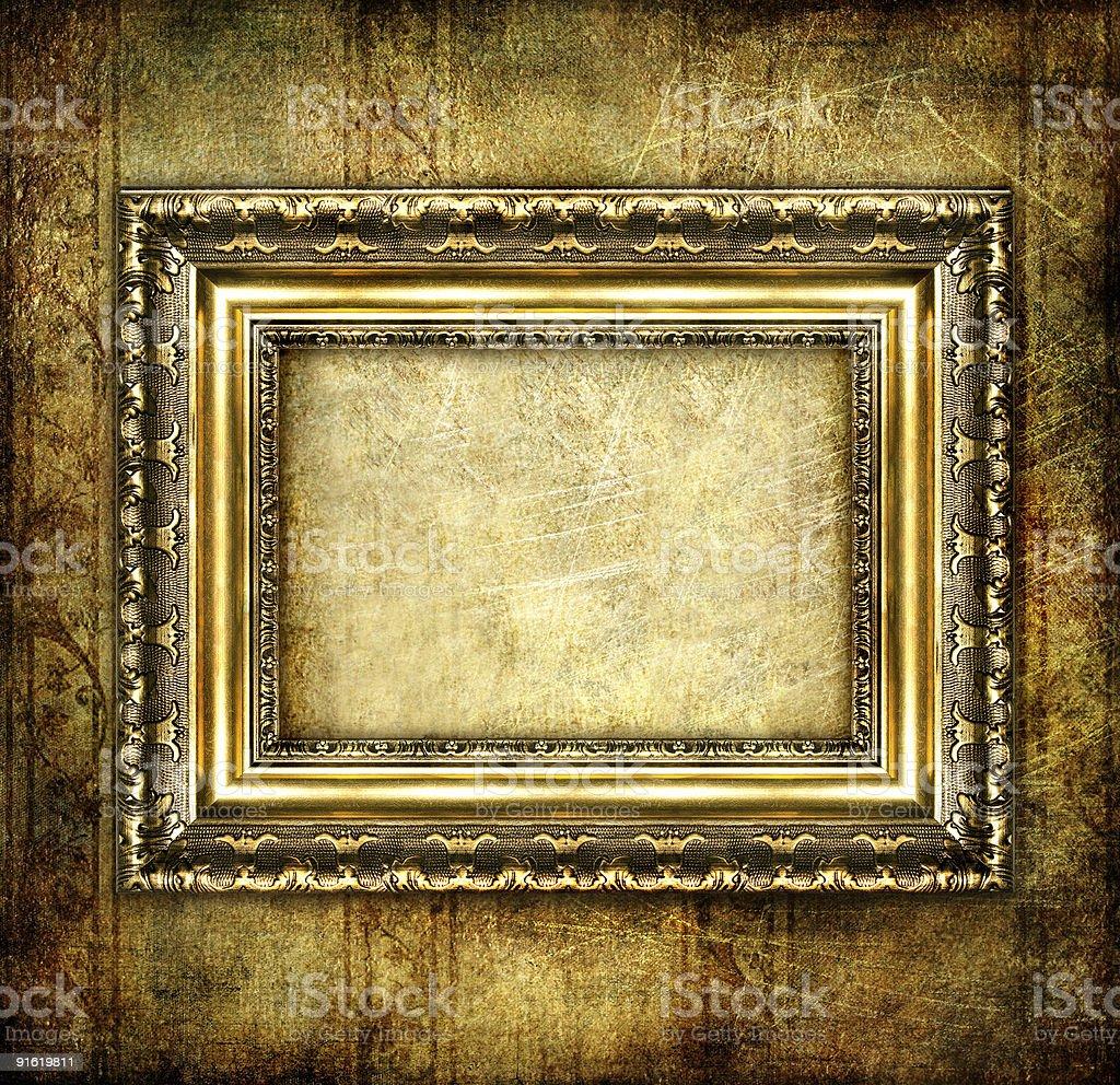 empty dark frame royalty-free stock vector art