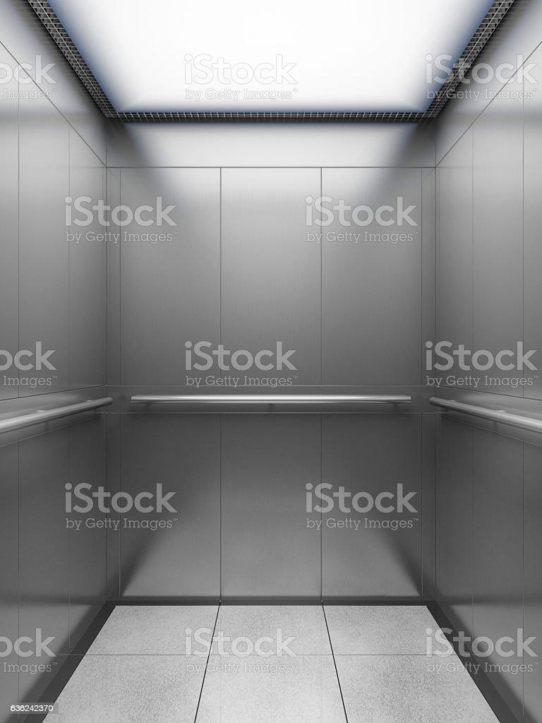 empty elevator cabin vector art illustration