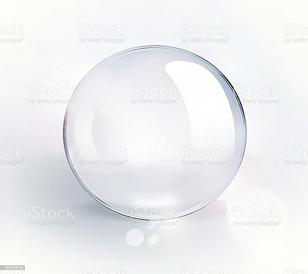 empty glass ball vector art illustration