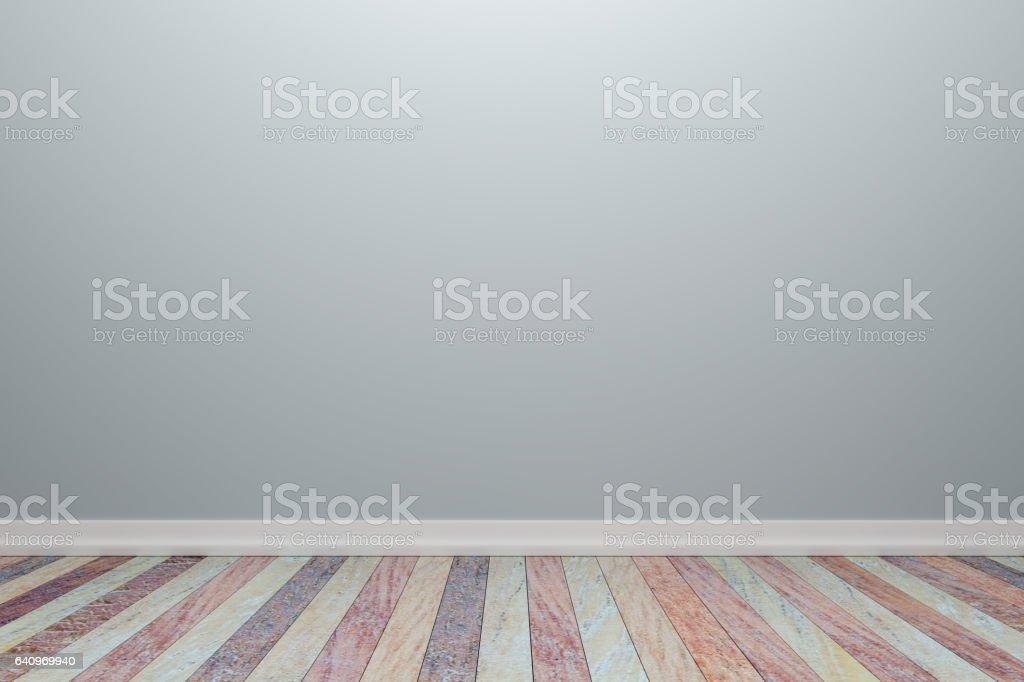 Empty interior light gray room with wooden floor. vector art illustration