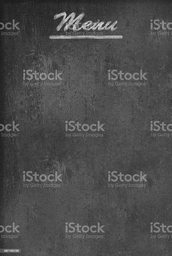 Empty menu blackboard vector art illustration