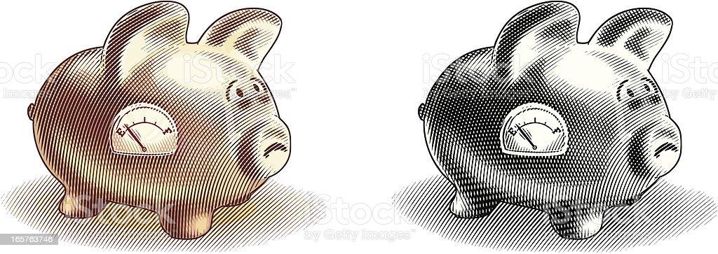 Empty Piggy Bank royalty-free stock vector art