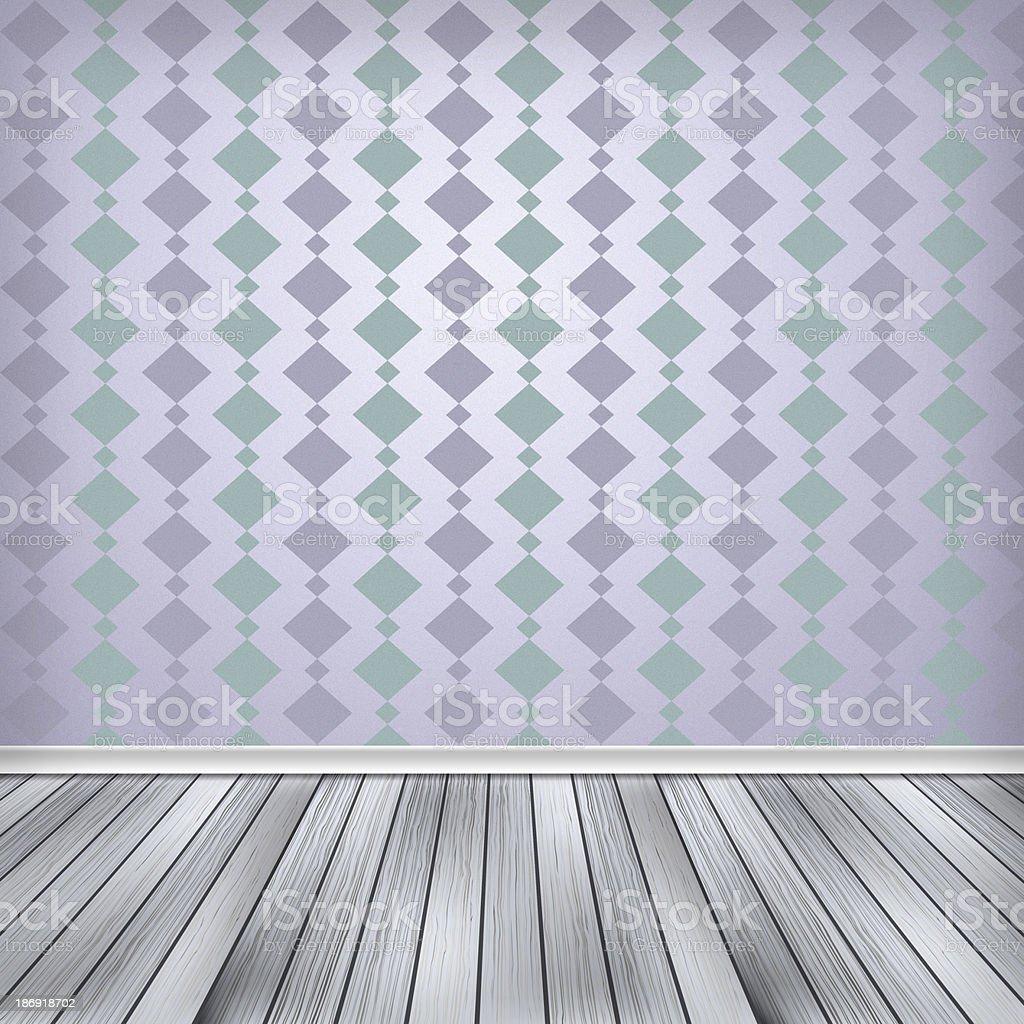 Empty room, interior with wallpaper. High resolution texture bac vector art illustration