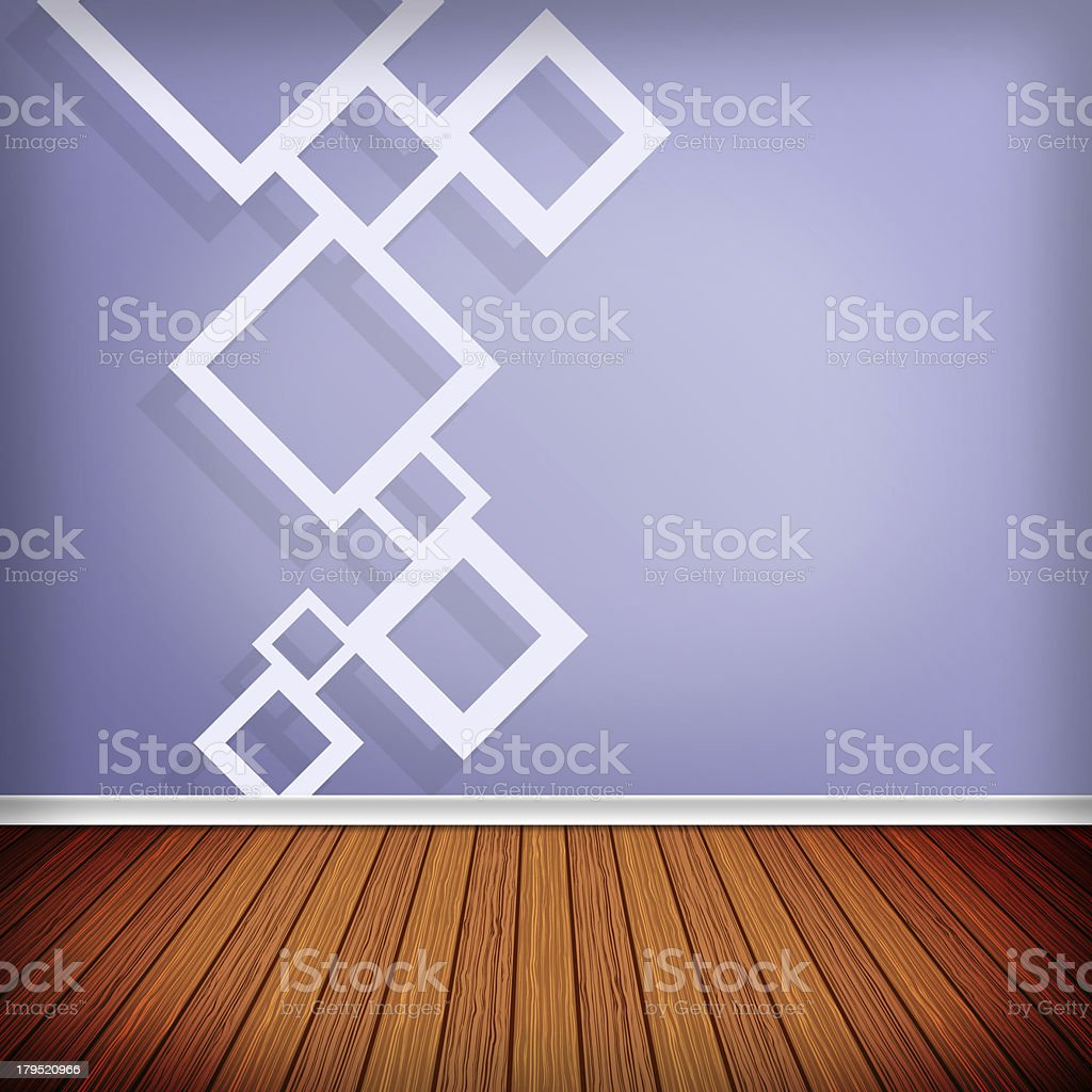 Empty room, interior with wallpaper royalty-free stock vector art