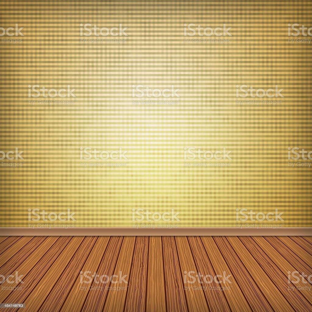 Empty room, interior with wallpaper vector art illustration