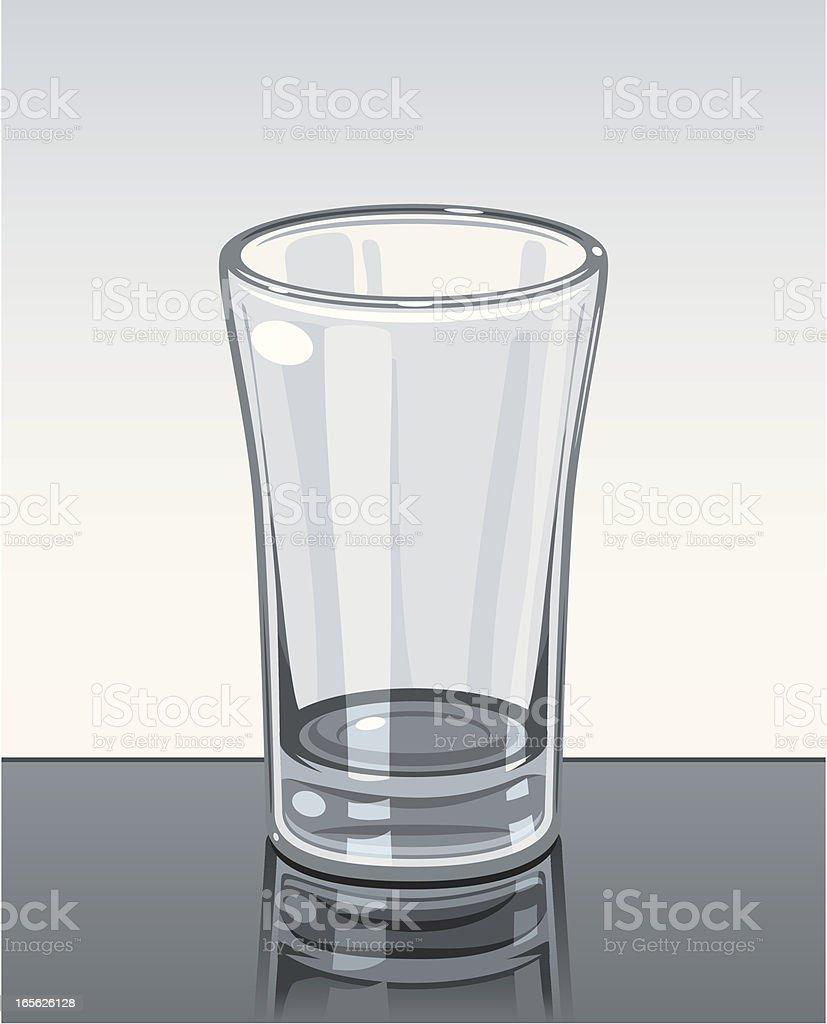 Empty Shot Glass royalty-free stock vector art