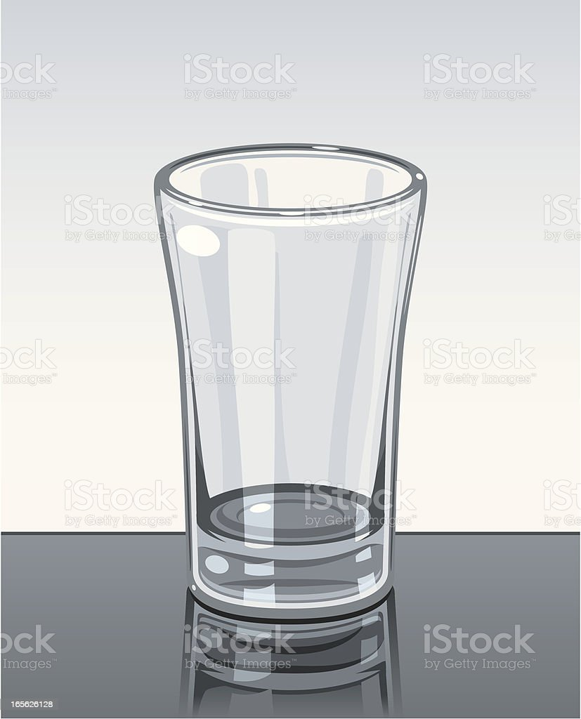 Empty Shot Glass vector art illustration