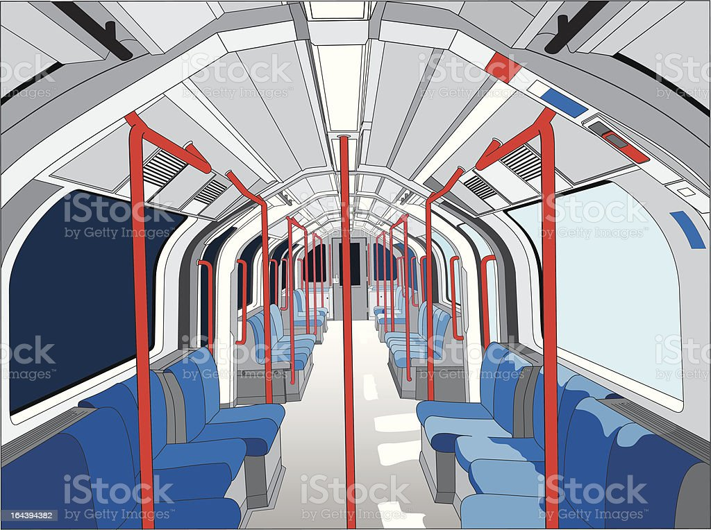 Empty tube train vector art illustration