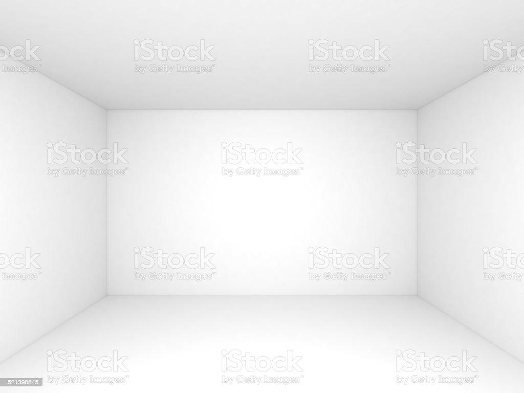 Empty white 3d room interior background vector art illustration
