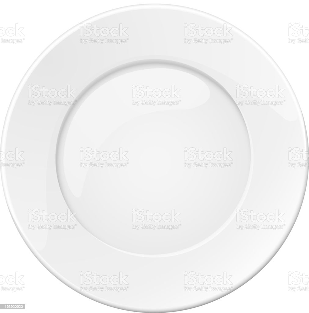 Empty white plate royalty-free stock vector art