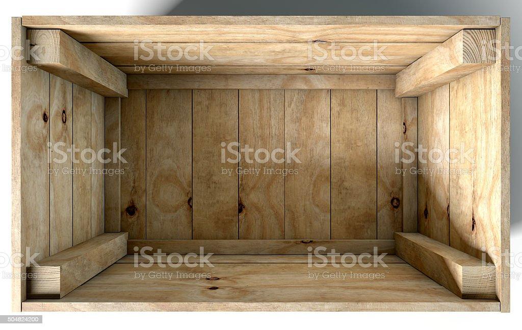 Empty Wooden Box vector art illustration