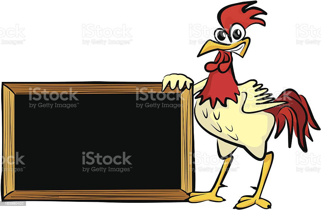 encourages cock - blank board royalty-free stock vector art