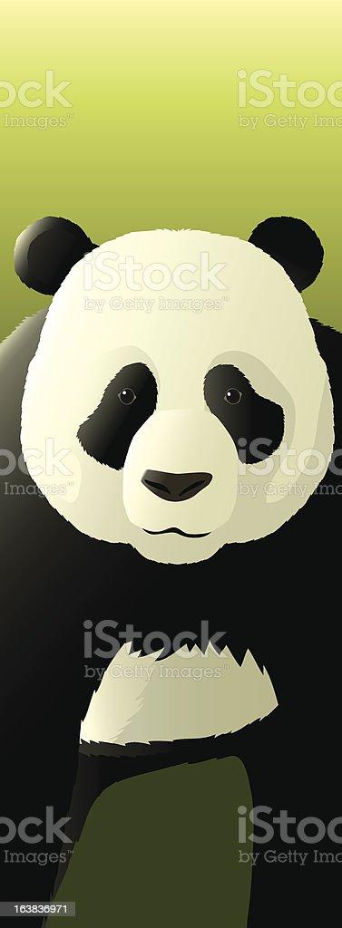Endangered Species, Panda Bear royalty-free stock vector art