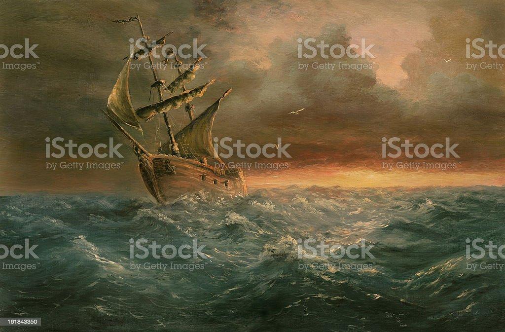 ending storm vector art illustration