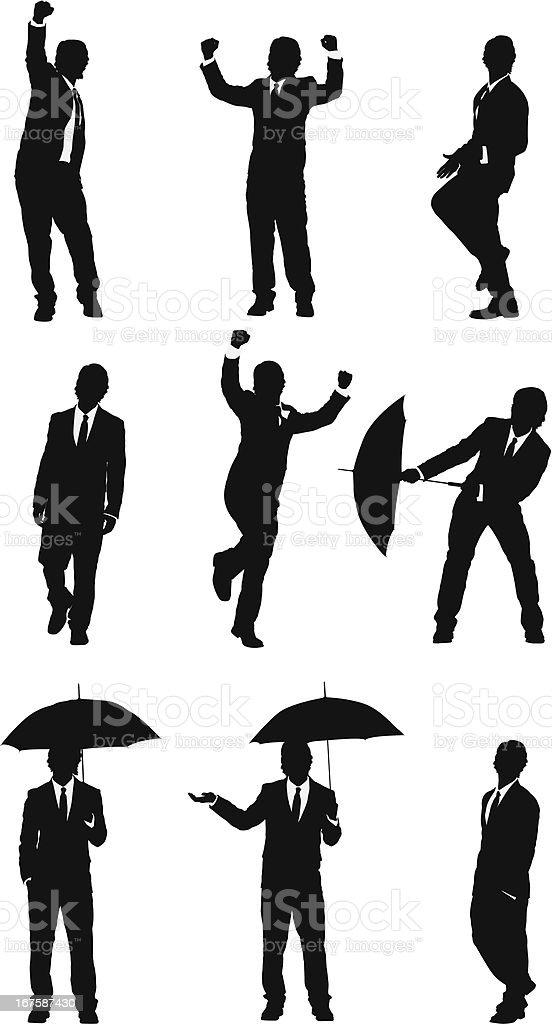 Energetic businessmen vector images royalty-free stock vector art