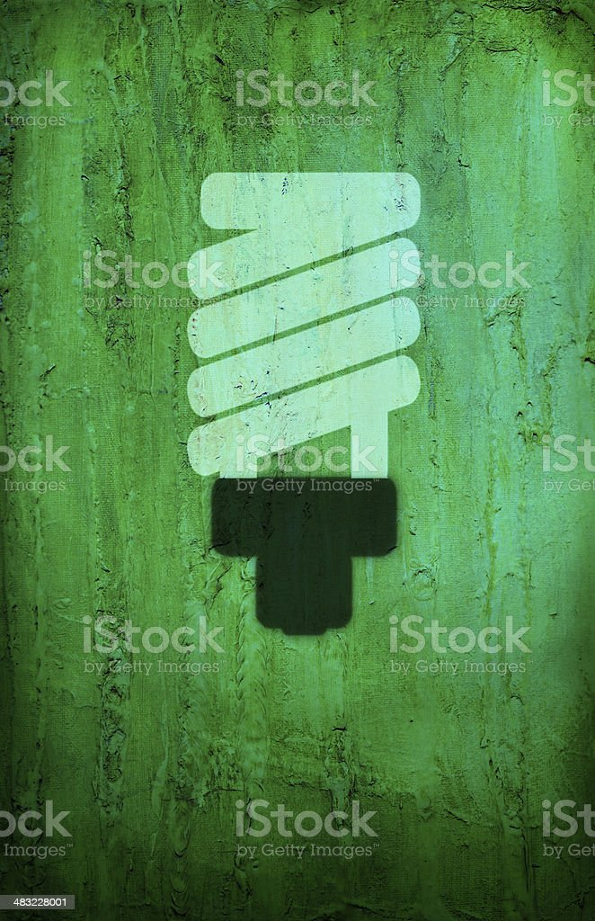 Energy Conservation Stencil royalty-free stock vector art