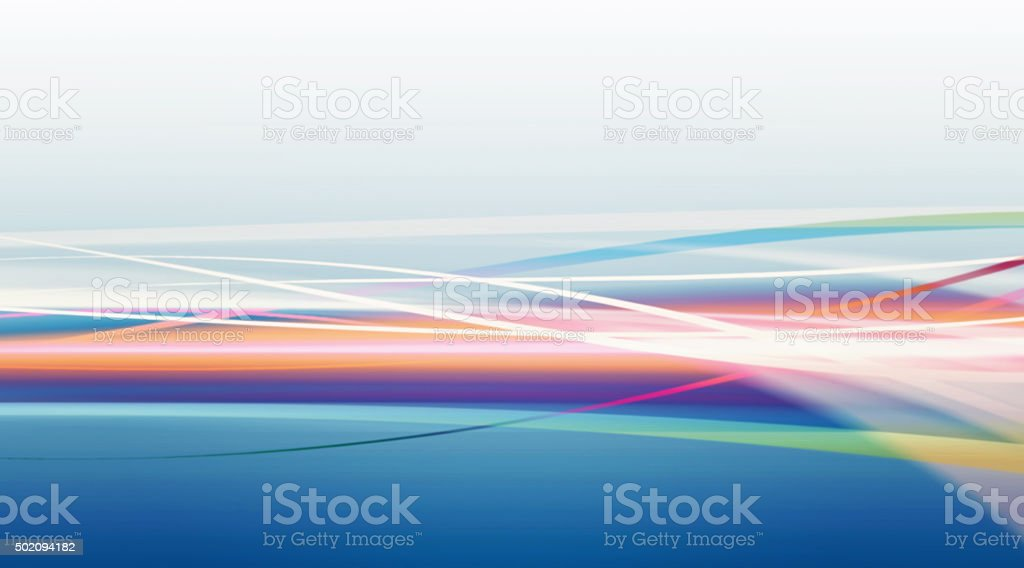 Energy Flow Defocused Blurred Motion Abstract Background Multi Colored vector art illustration