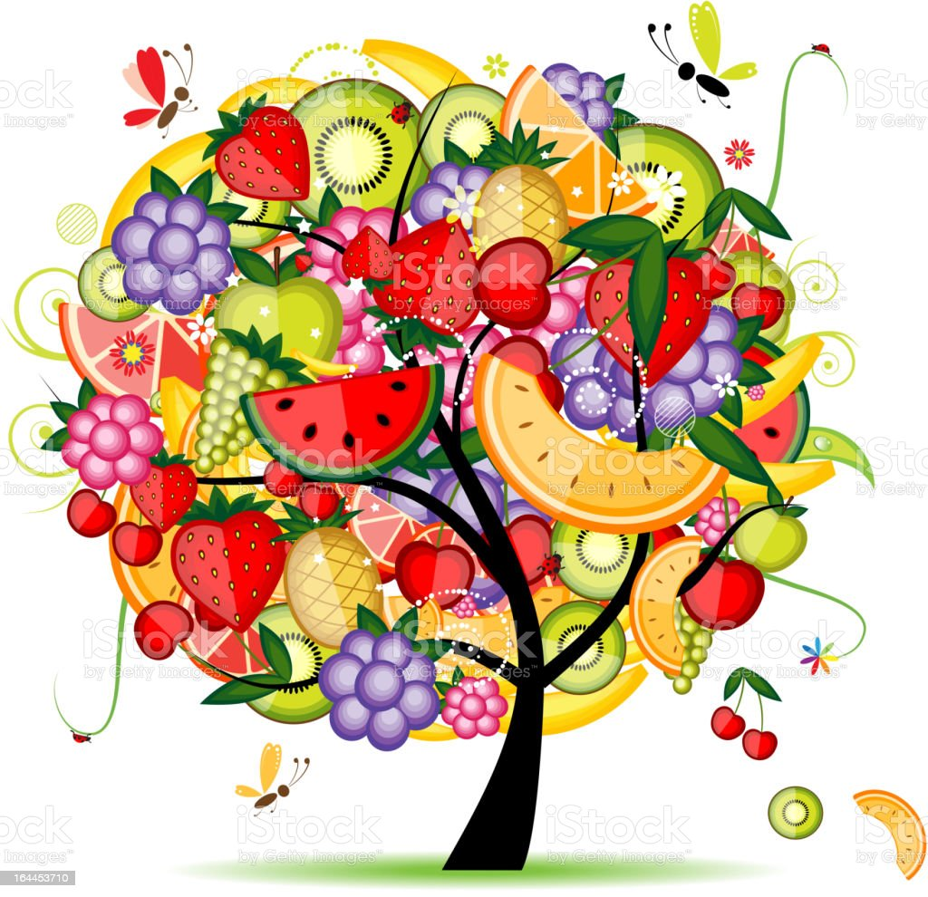 Energy fruit tree for your design royalty-free stock vector art