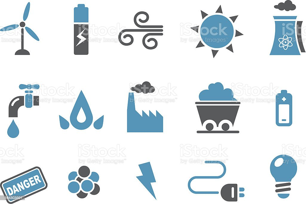 Energy Icon Set royalty-free stock vector art