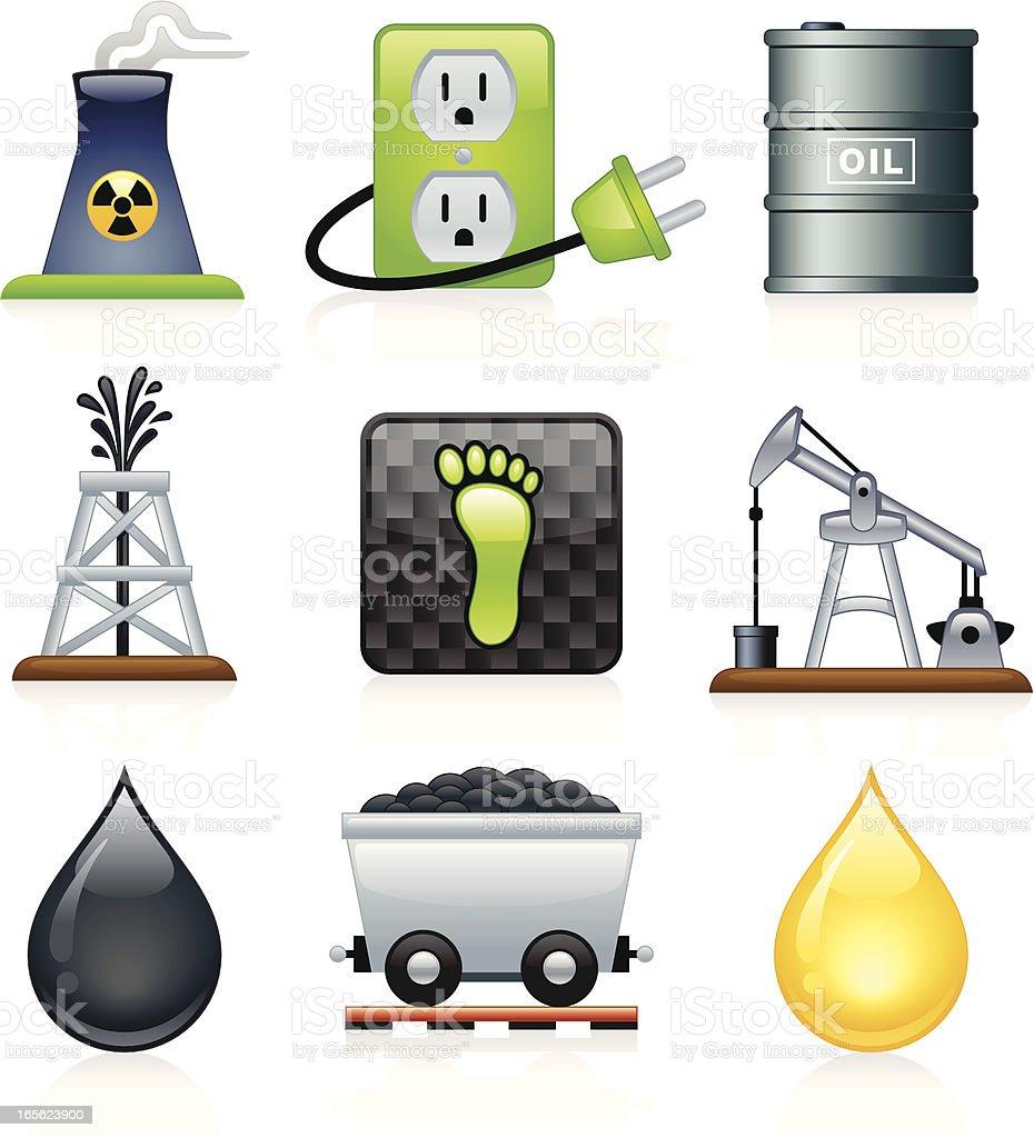Energy Icons - Juicy Series royalty-free stock vector art