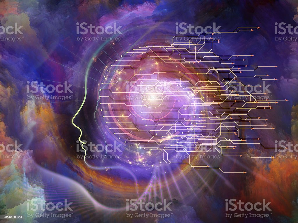 Energy of the Soul vector art illustration