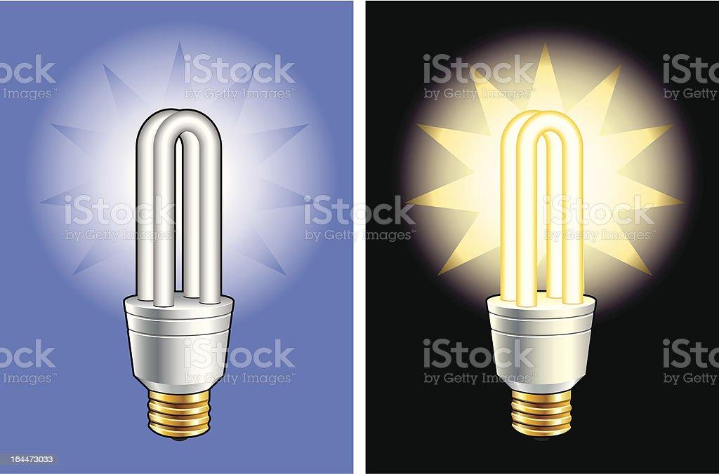 energy-saving lightbulb royalty-free stock vector art