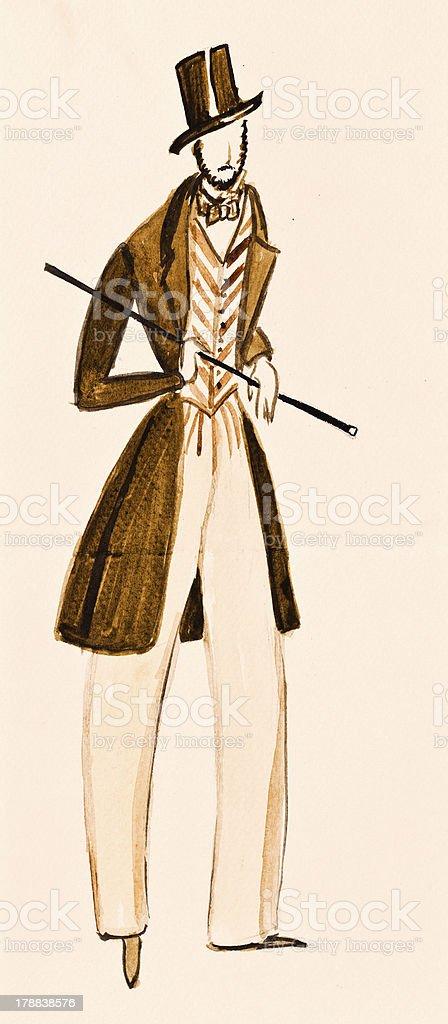 English gentleman suit royalty-free stock vector art