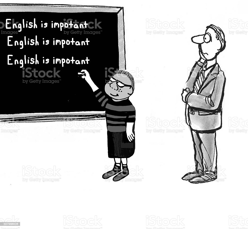 English is Important vector art illustration