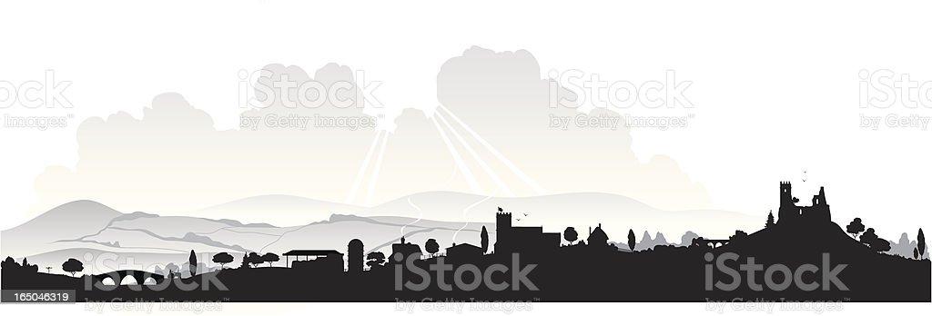 English landscape vector art illustration