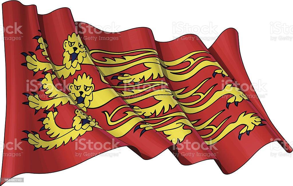 English Royal Banner royalty-free stock vector art