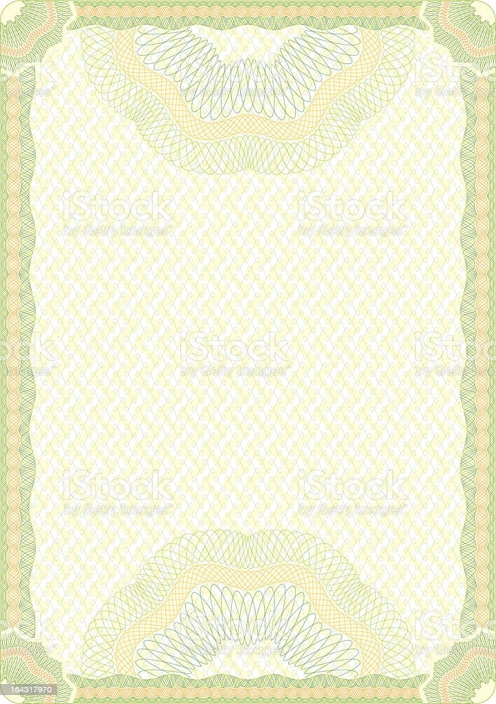 Engraved Guilloche diploma background royalty-free stock vector art