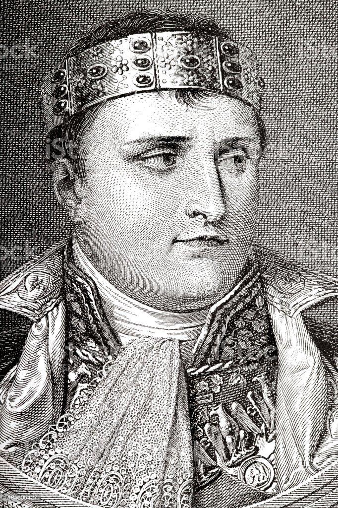 Engraving of emperor Napolean Bonaparte from 1882 royalty-free stock vector art