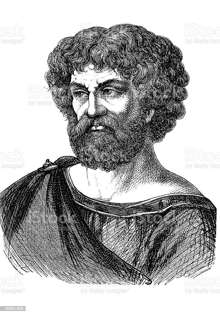 Engraving of Hannibal from 1870 vector art illustration