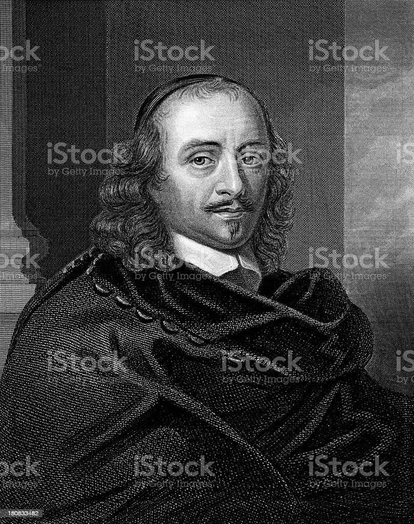 Engraving of Pierre Corneille by Thomas Woolnoth royalty-free stock vector art